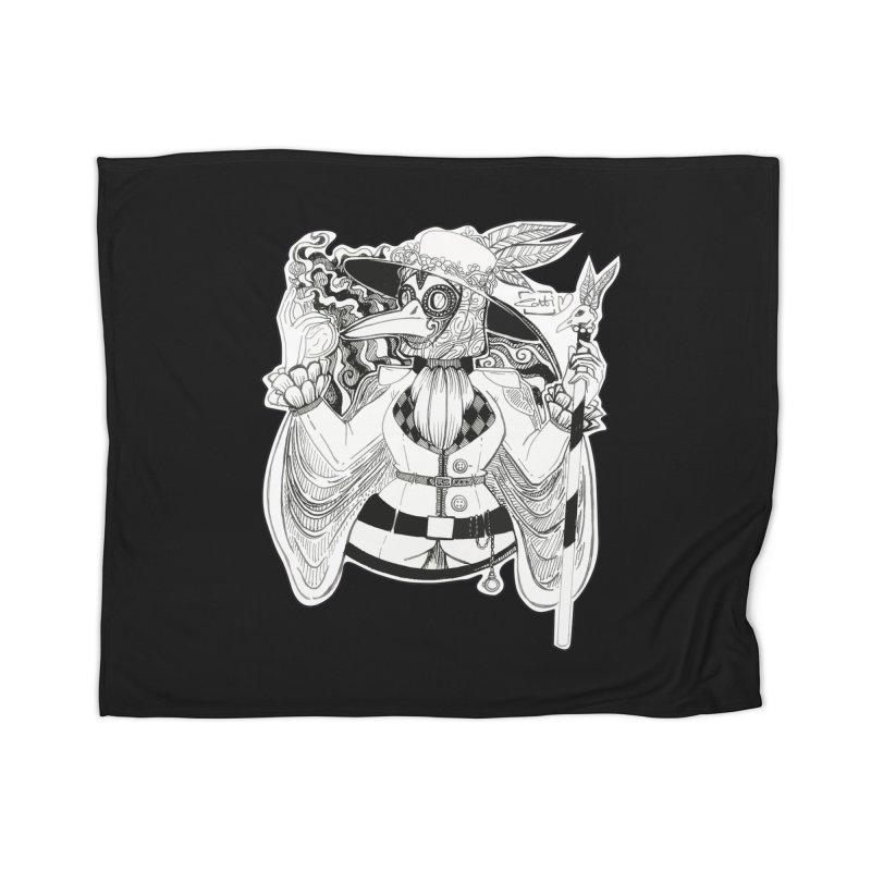 Masked Plague Doctor Home Blanket by catiworks's Artist Shop