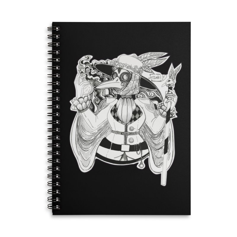 Masked Plague Doctor Accessories Notebook by catiworks's Artist Shop
