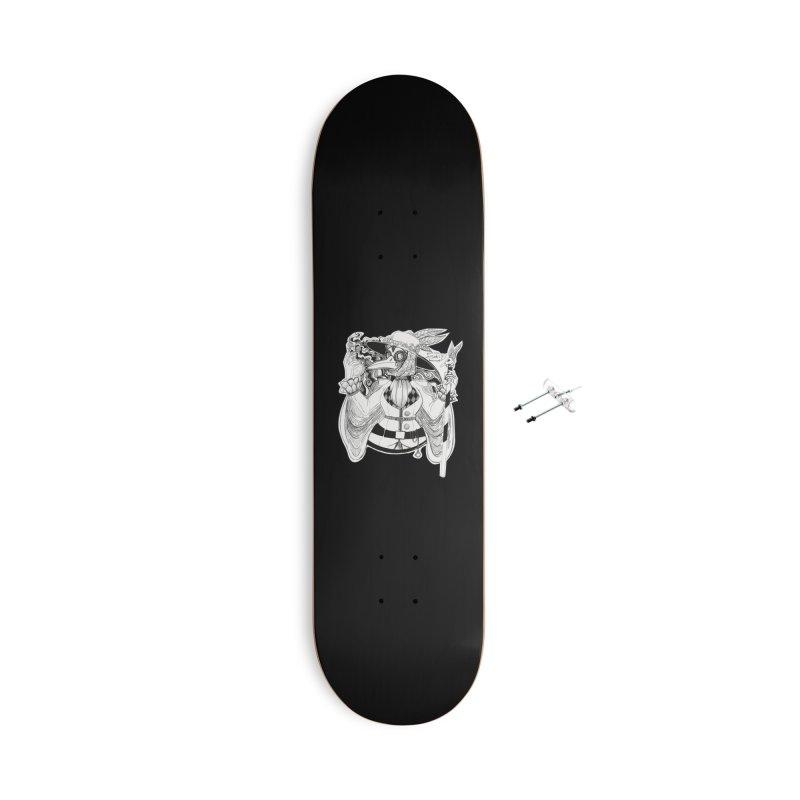 Masked Plague Doctor Accessories Skateboard by catiworks's Artist Shop