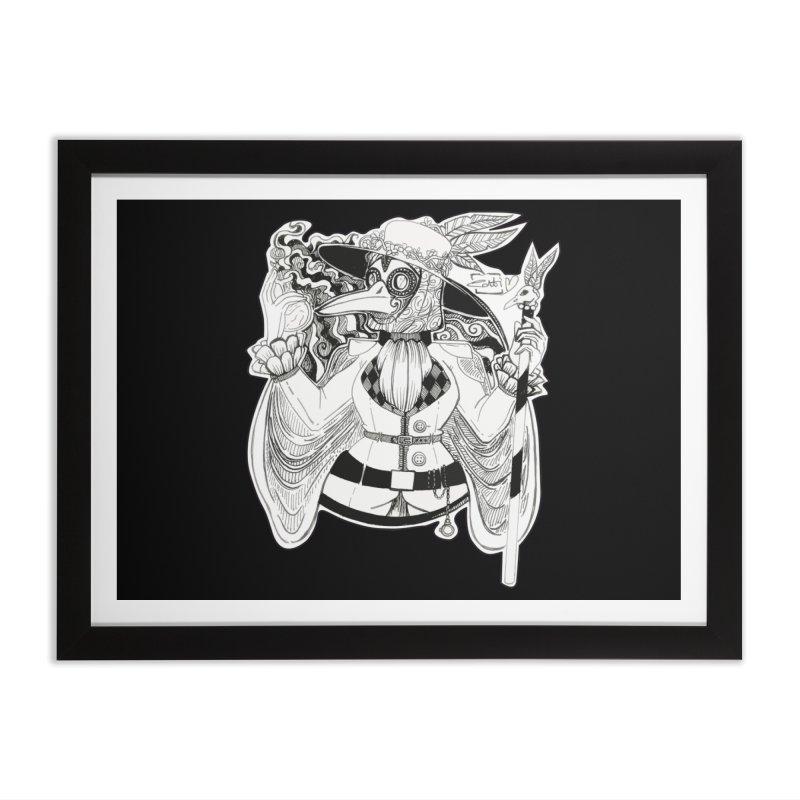 Masked Plague Doctor Home Framed Fine Art Print by catiworks's Artist Shop