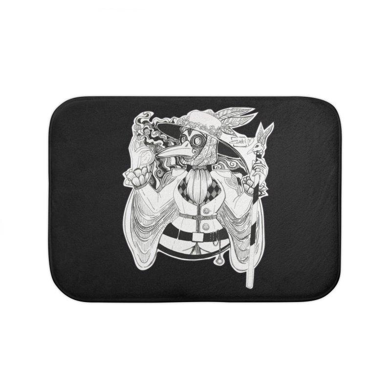 Masked Plague Doctor Home Bath Mat by catiworks's Artist Shop