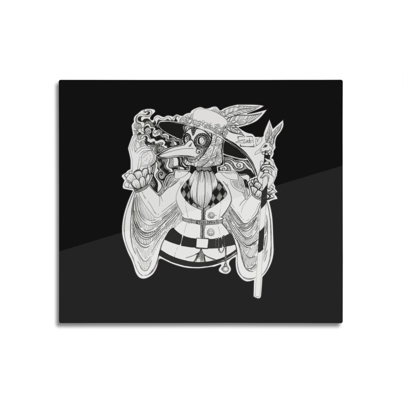 Masked Plague Doctor Home Mounted Aluminum Print by catiworks's Artist Shop