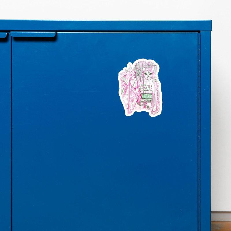 Masked Sakura Blossom Accessories Magnet by catiworks's Artist Shop