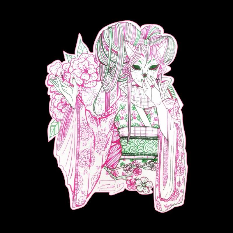 Masked Sakura Blossom Women's Pullover Hoody by catiworks's Artist Shop