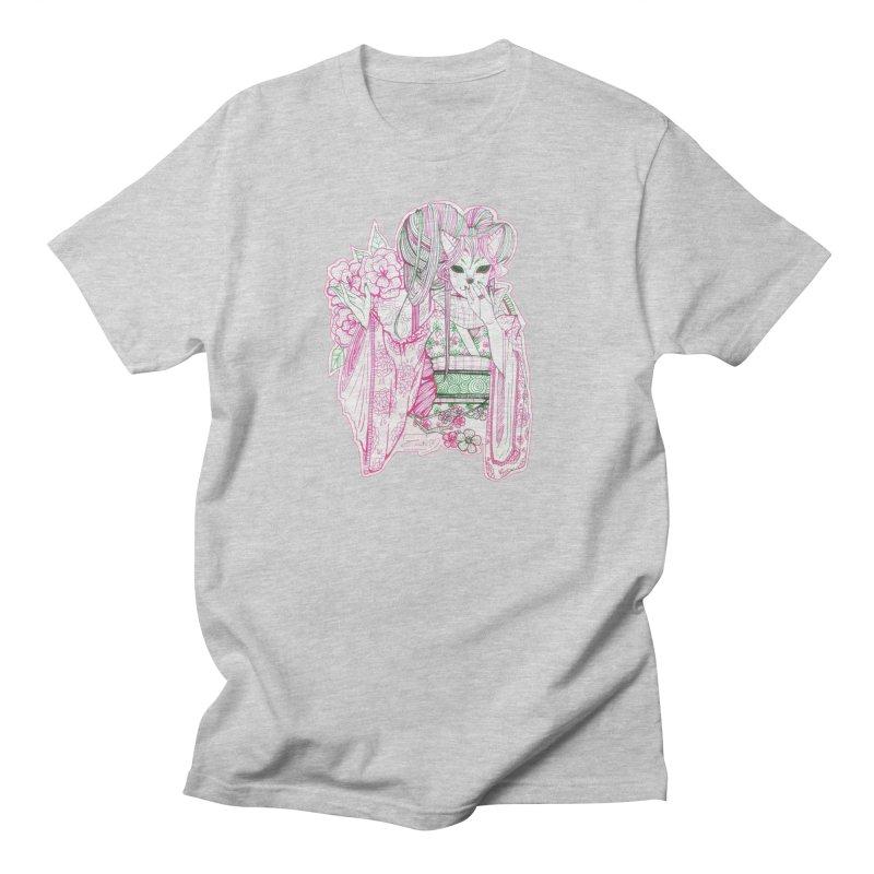Masked Sakura Blossom Men's T-Shirt by catiworks's Artist Shop
