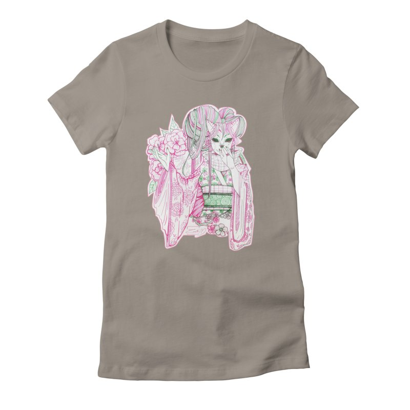 Masked Sakura Blossom Women's T-Shirt by catiworks's Artist Shop