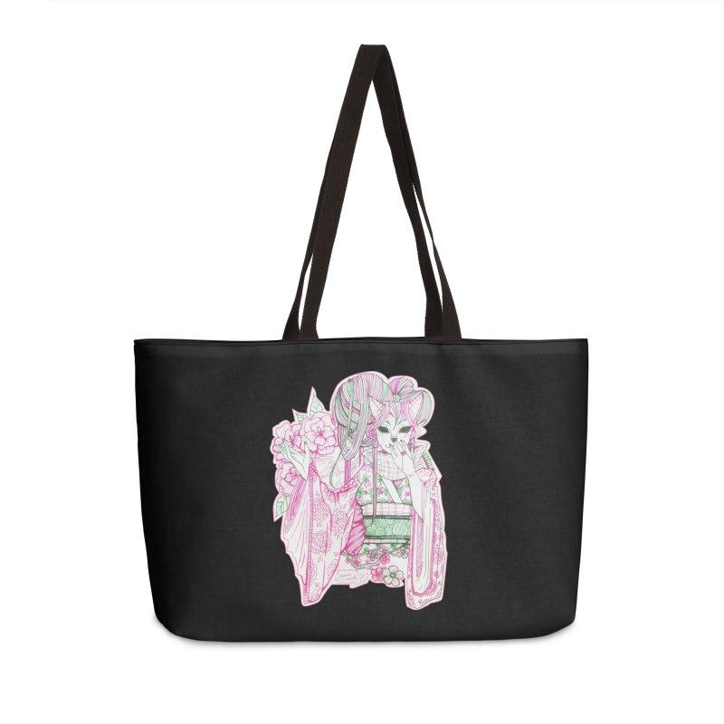 Masked Sakura Blossom Accessories Bag by catiworks's Artist Shop