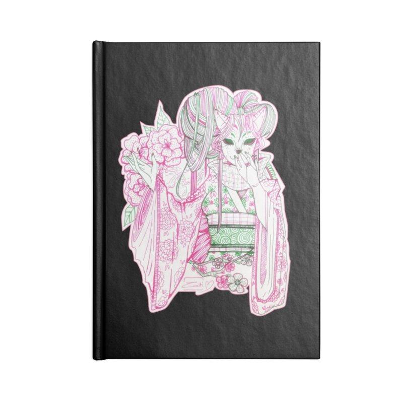 Masked Sakura Blossom Accessories Notebook by catiworks's Artist Shop