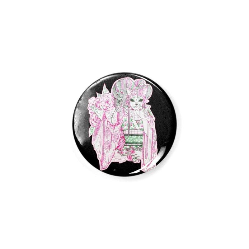 Masked Sakura Blossom Accessories Button by catiworks's Artist Shop