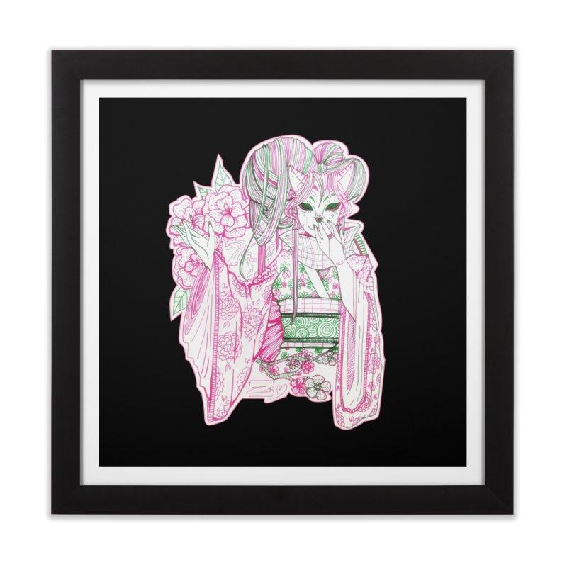 Masked Sakura Blossom Home Framed Fine Art Print by catiworks's Artist Shop