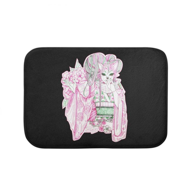 Masked Sakura Blossom Home Bath Mat by catiworks's Artist Shop