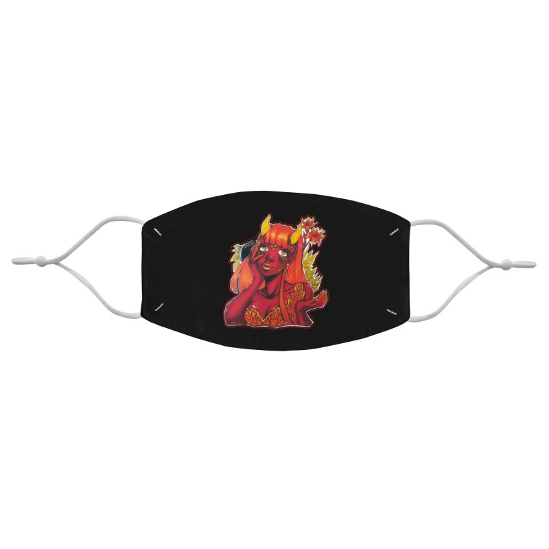 Red Orange Yellow Demon Accessories Face Mask by catiworks's Artist Shop