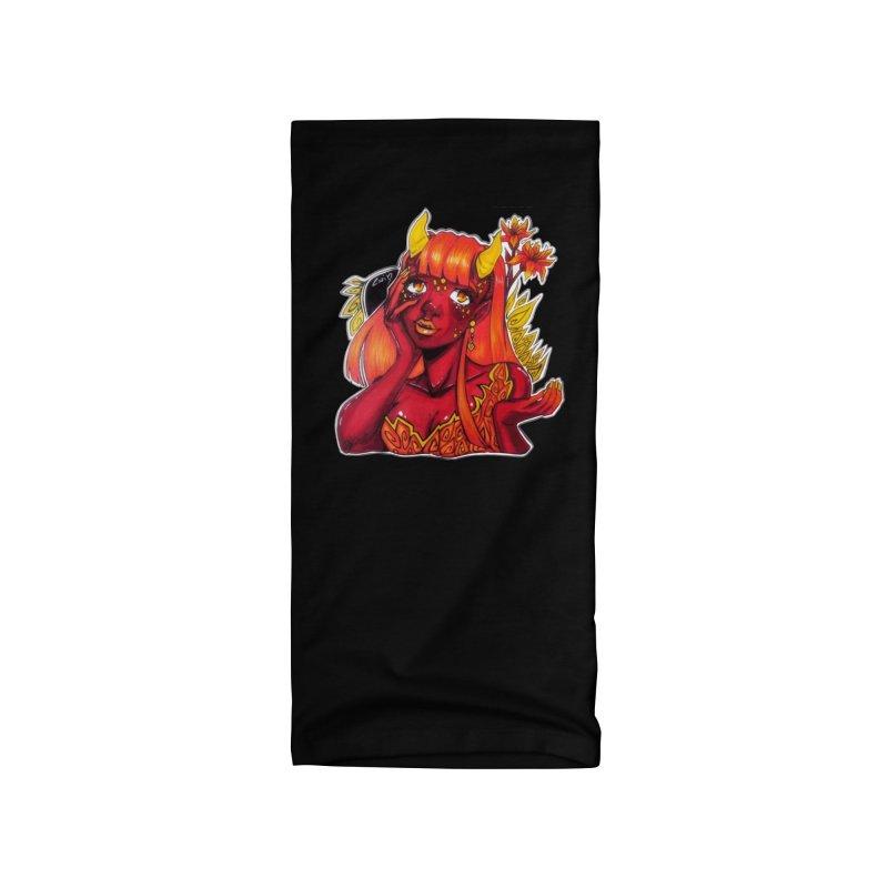 Red Orange Yellow Demon Accessories Neck Gaiter by catiworks's Artist Shop
