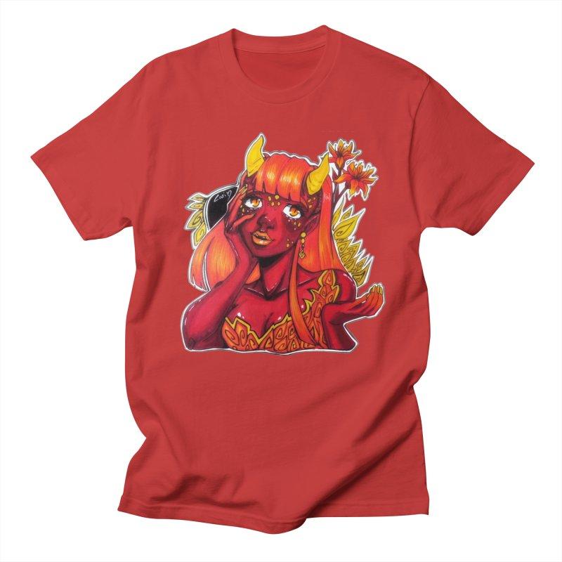 Red Orange Yellow Demon Women's T-Shirt by catiworks's Artist Shop