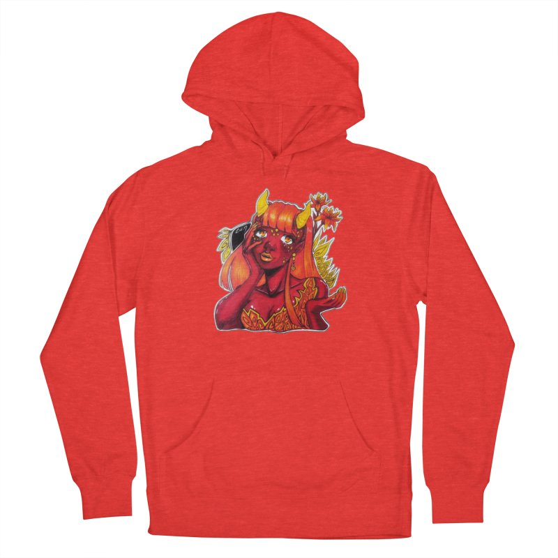 Red Orange Yellow Demon Women's Pullover Hoody by catiworks's Artist Shop