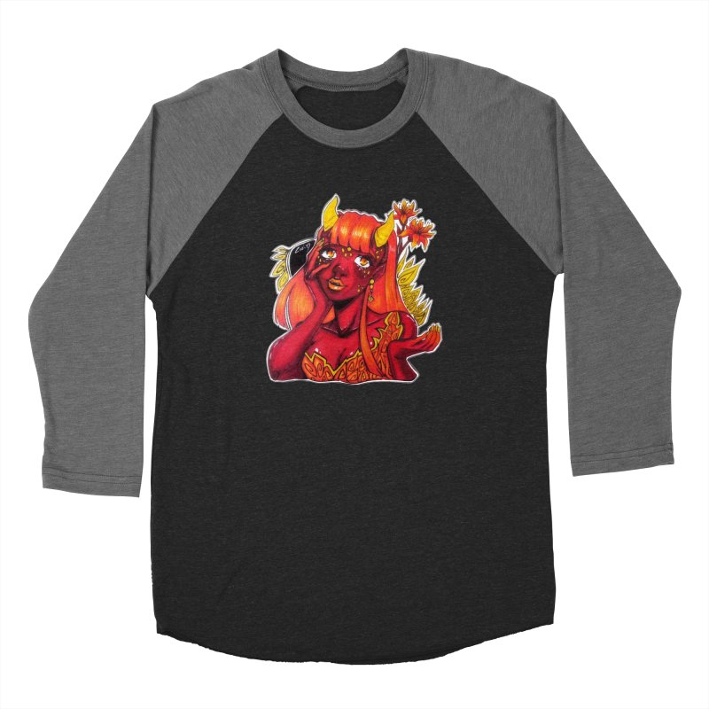 Red Orange Yellow Demon Women's Longsleeve T-Shirt by catiworks's Artist Shop
