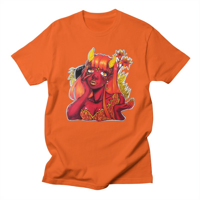 Red Orange Yellow Demon Men's T-Shirt by catiworks's Artist Shop