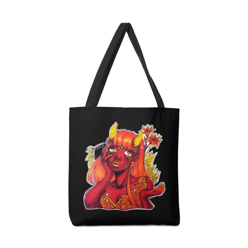 Red Orange Yellow Demon Accessories Bag by catiworks's Artist Shop