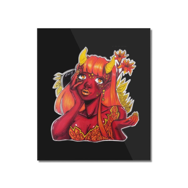 Red Orange Yellow Demon Home Mounted Acrylic Print by catiworks's Artist Shop