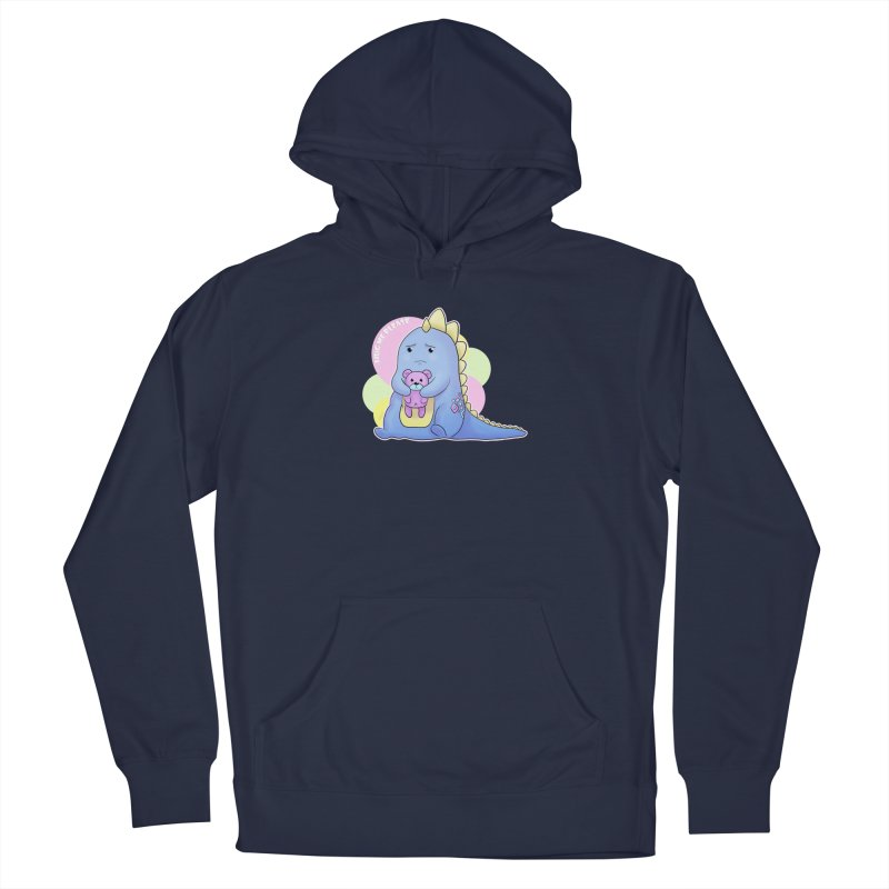Sad Dino - Hug me Please Men's Pullover Hoody by catiworks's Artist Shop