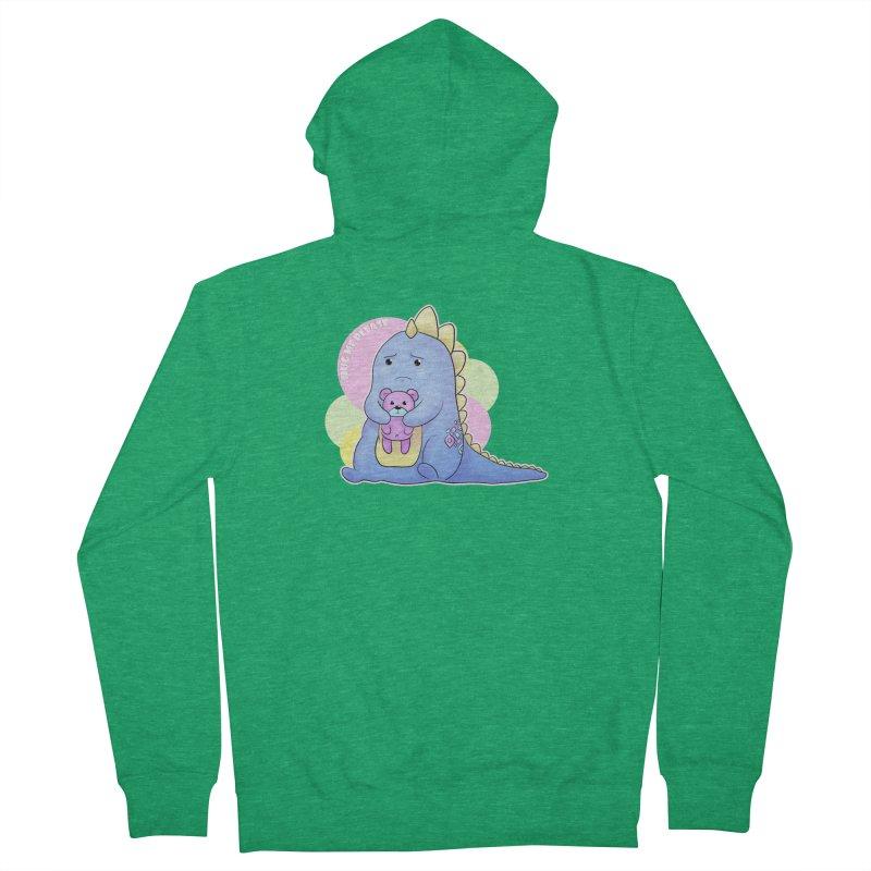 Sad Dino - Hug me Please Men's Zip-Up Hoody by catiworks's Artist Shop