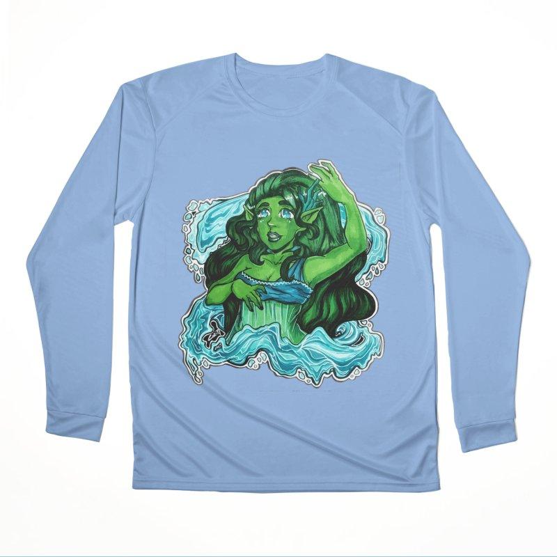Water Bending Goddess Men's Longsleeve T-Shirt by catiworks's Artist Shop