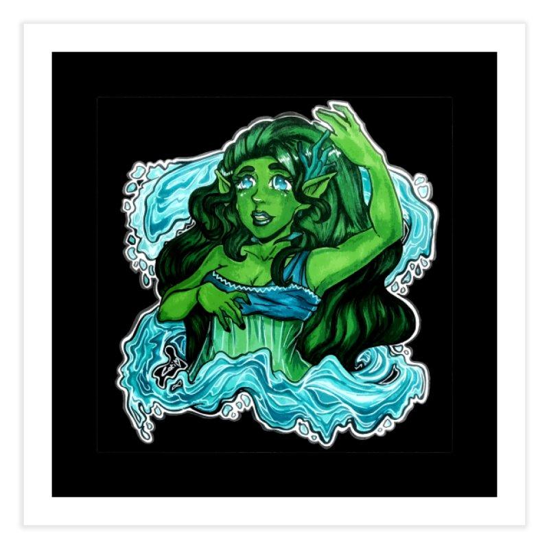 Water Bending Goddess Home Fine Art Print by catiworks's Artist Shop