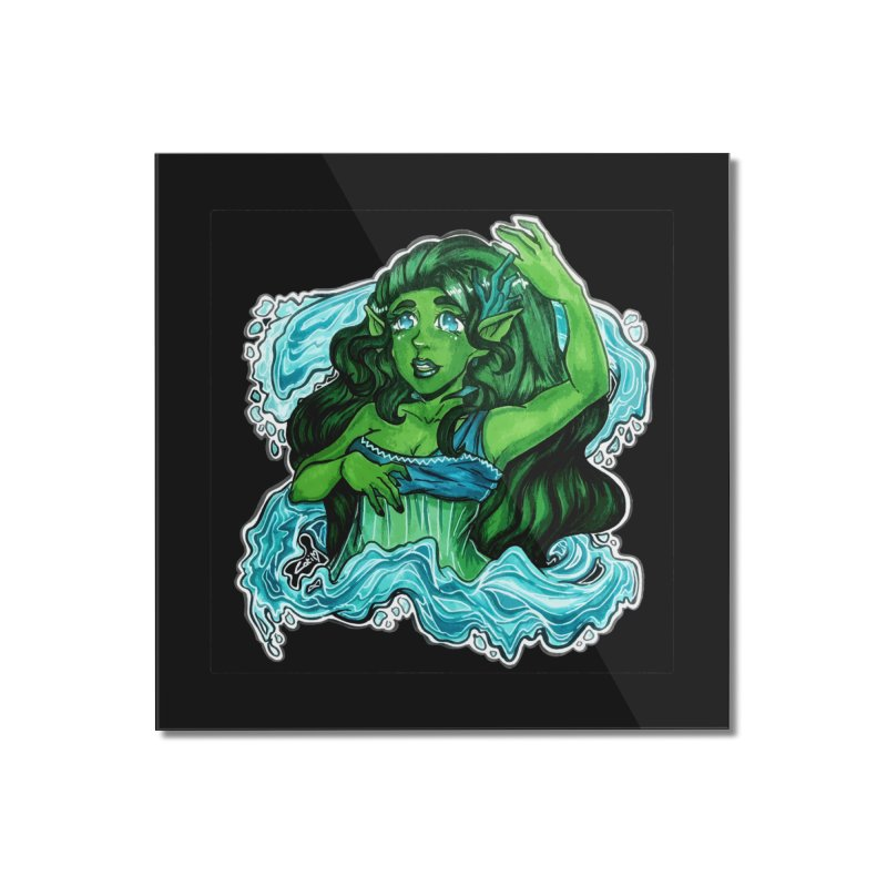 Water Bending Goddess Home Mounted Acrylic Print by catiworks's Artist Shop