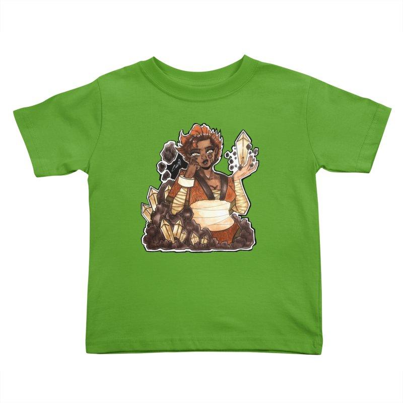 Rock Bending Diva Kids Toddler T-Shirt by catiworks's Artist Shop