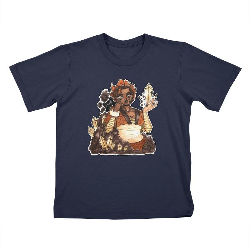 Rock Bending Diva Kids T-Shirt by catiworks's Artist Shop