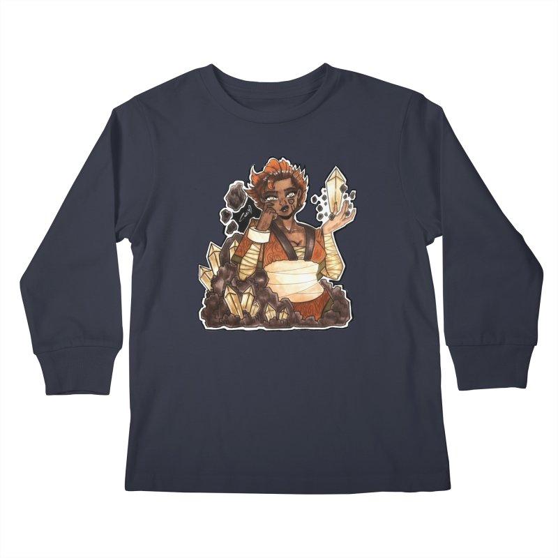 Rock Bending Diva Kids Longsleeve T-Shirt by catiworks's Artist Shop