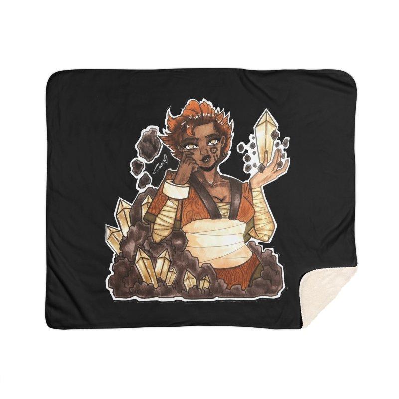 Rock Bending Diva Home Blanket by catiworks's Artist Shop