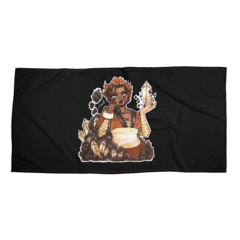Rock Bending Diva Accessories Beach Towel by catiworks's Artist Shop