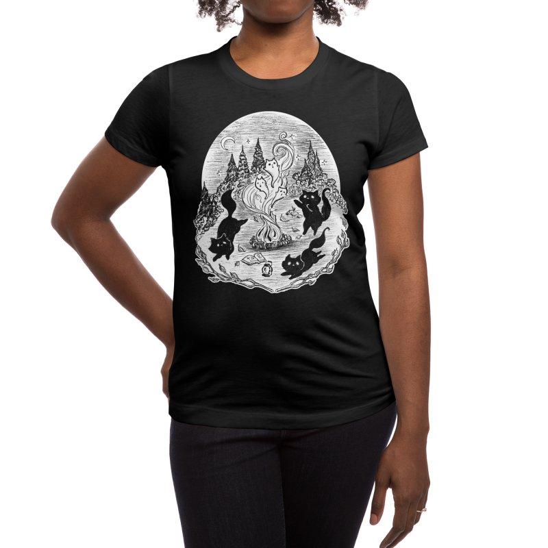 Campfire Tales Women's T-Shirt by catmallard's Artist Shop