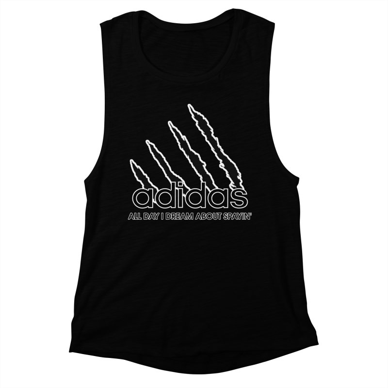 Cat Men Unite - All Day I Dream About Spayin' Women's Muscle Tank by Cat Man of West Oakland's Artist Shop