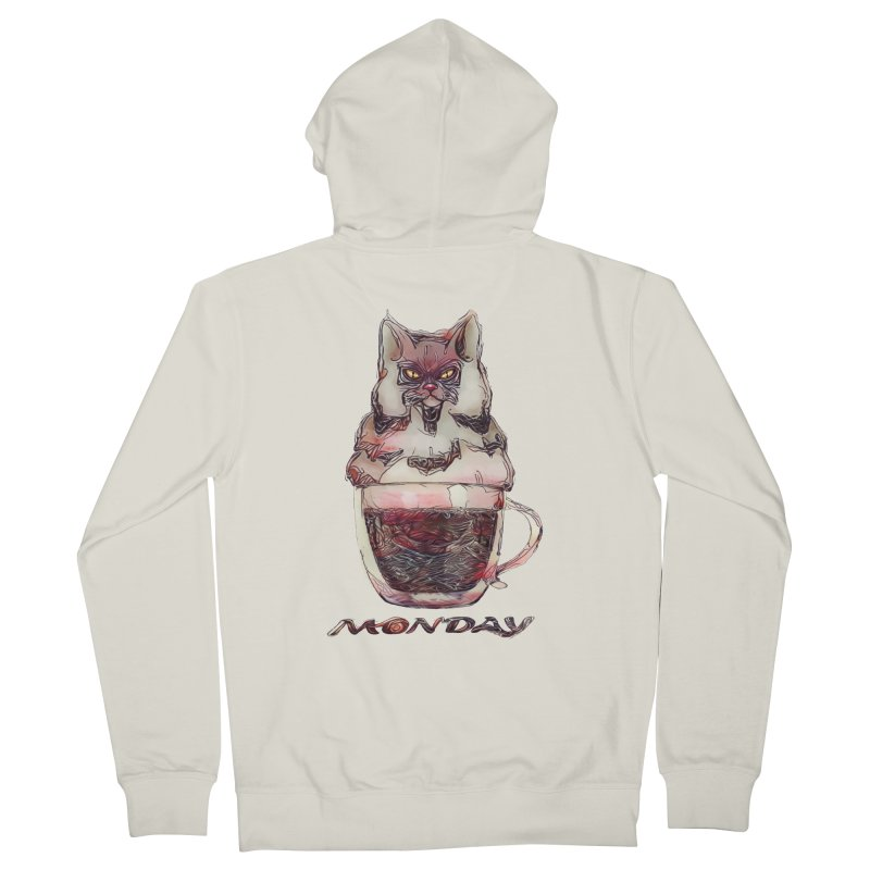 Monday Coffee Men's Zip-Up Hoody by Catopathy