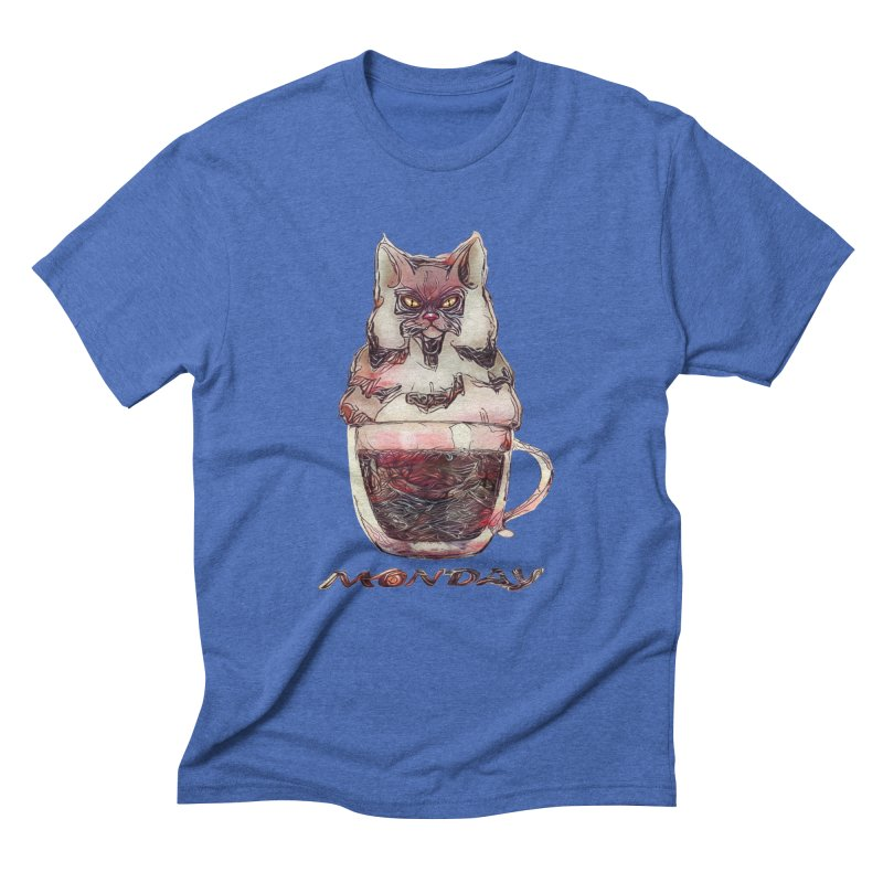 Monday Coffee Men's Triblend T-Shirt by Catopathy