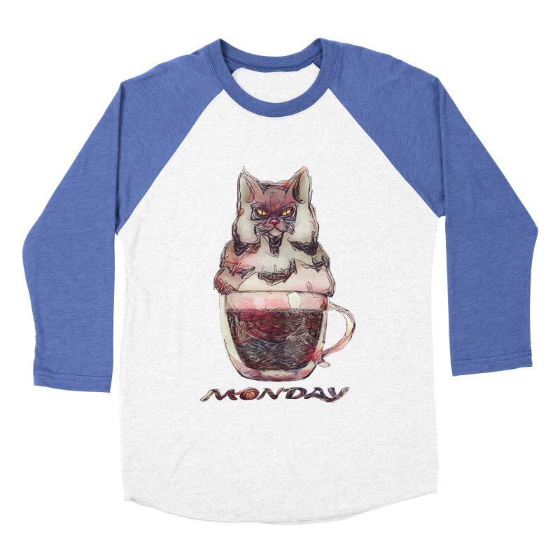 Monday Coffee Women's Baseball Triblend T-Shirt by Catopathy