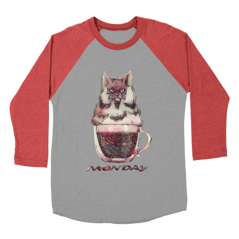 Monday Coffee Men's Baseball Triblend T-Shirt by Catopathy