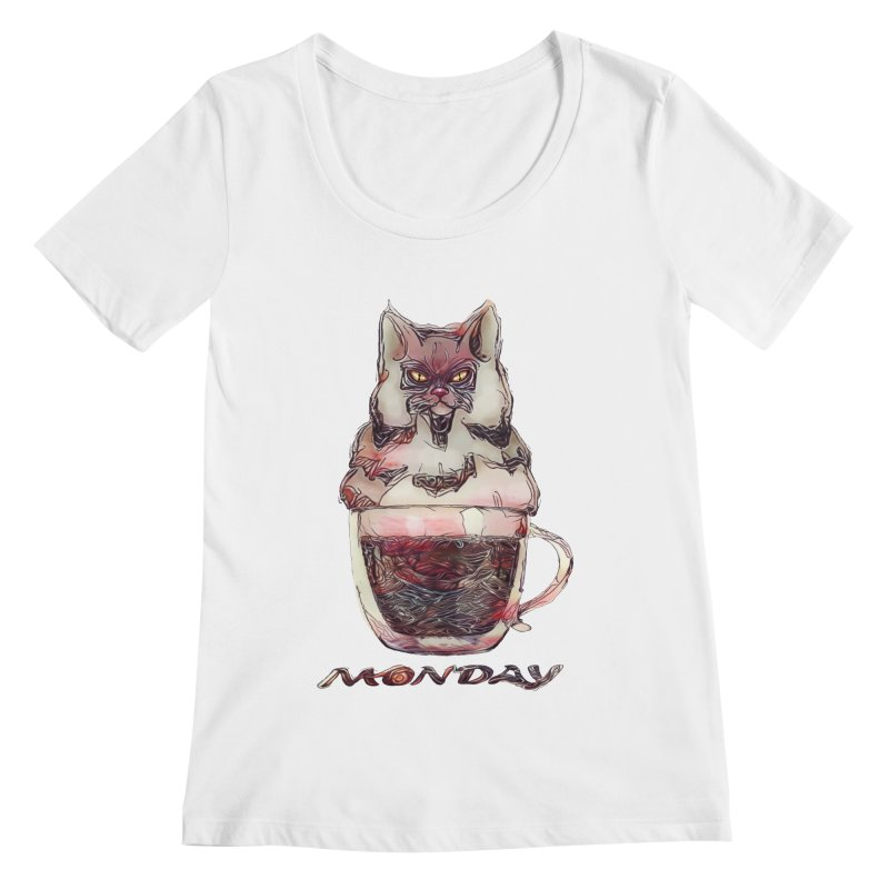 Monday Coffee Women's Scoopneck by Catopathy