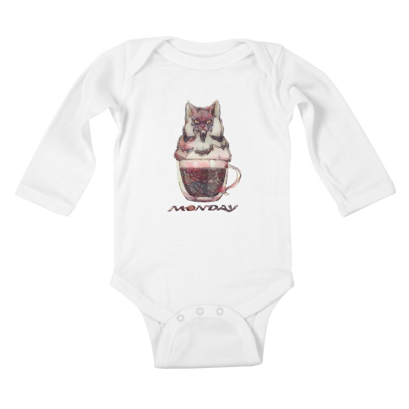 Monday Coffee Kids Baby Longsleeve Bodysuit by Catopathy