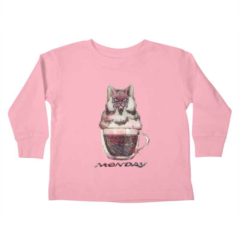 Monday Coffee Kids Toddler Longsleeve T-Shirt by Catopathy
