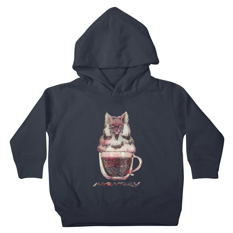 Monday Coffee Kids Toddler Pullover Hoody by Catopathy