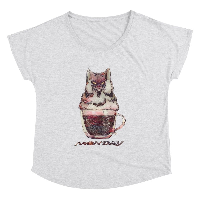 Monday Coffee Women's Dolman by Catopathy