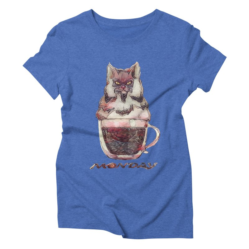 Monday Coffee Women's Triblend T-shirt by Catopathy