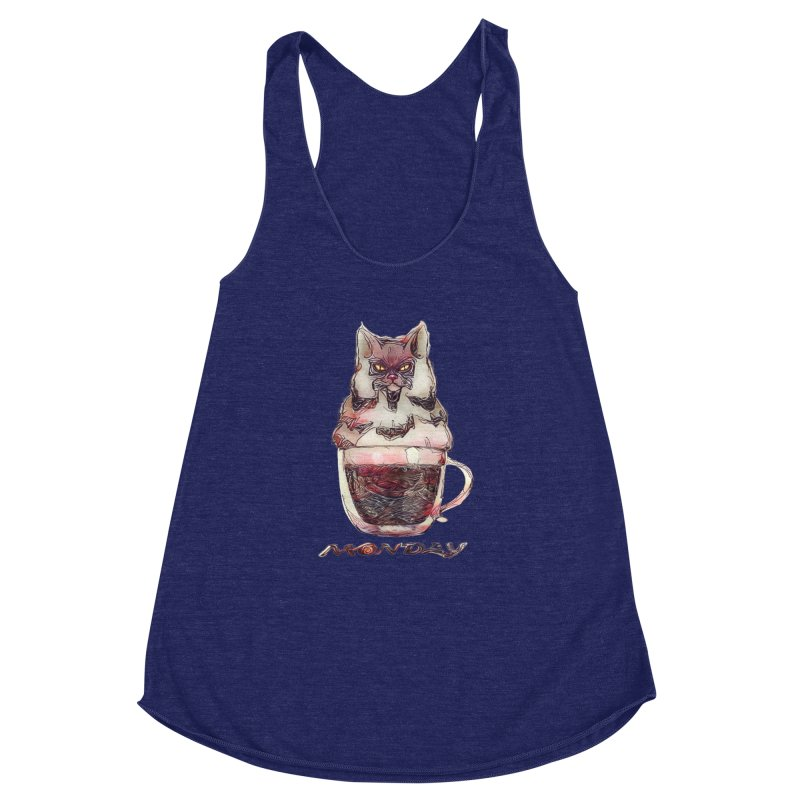 Monday Coffee Women's Racerback Triblend Tank by Catopathy