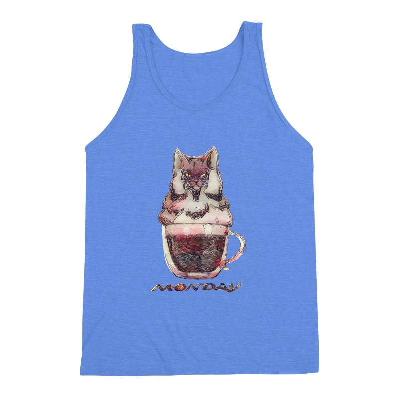 Monday Coffee Men's Triblend Tank by Catopathy