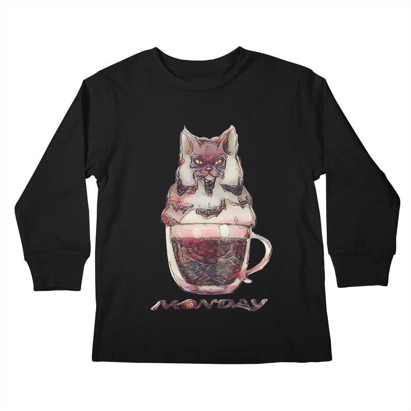 Monday Coffee Kids Longsleeve T-Shirt by Catopathy
