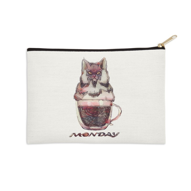 Monday Coffee Accessories Zip Pouch by Catopathy