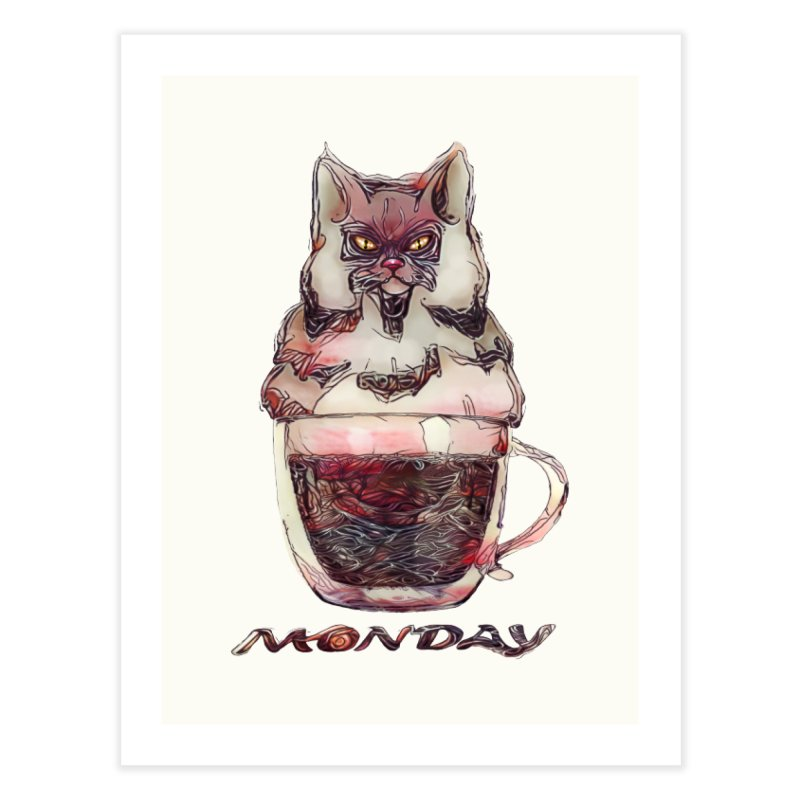 Monday Coffee Home Fine Art Print by Catopathy